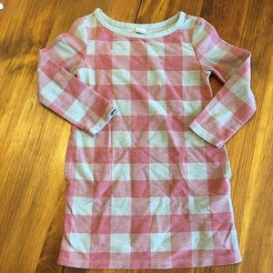 Old Navy buffalo plaid checked shift dress 3T